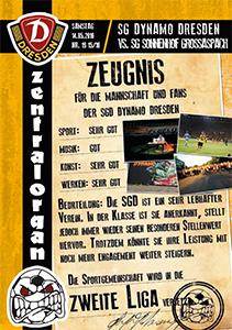 SG Dynamo Dresden vs. Sonnenhof Großaspach